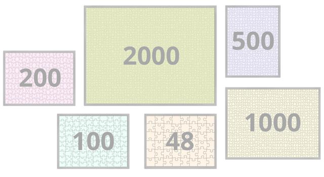 Cadres pour puzzles de 48 à 2000 pièces