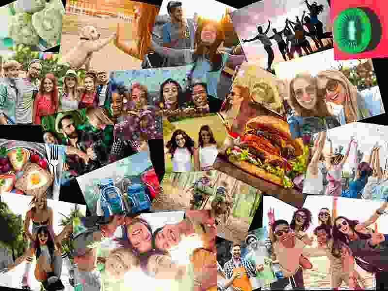 Puzzle Photo pêle-mêle paire avec 20 photos