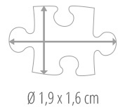 Dimensions des pièces du puzzle - Puzzle photo 600 pièces