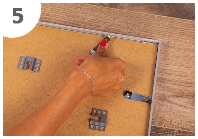 Mode d`emploi cadre pour puzzle 5ème étape