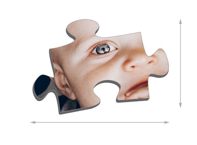 Dimensions des pièces du puzzle - Puzzle photo 2000 pièces