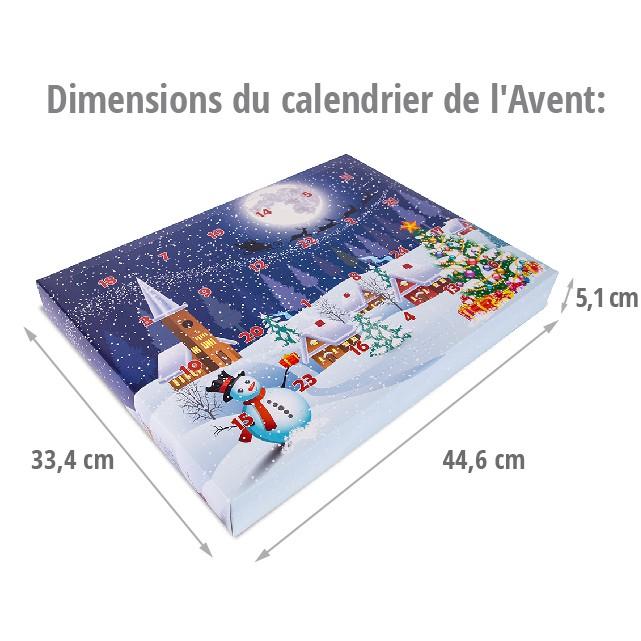 Dimensions du calendrier de l'Avent