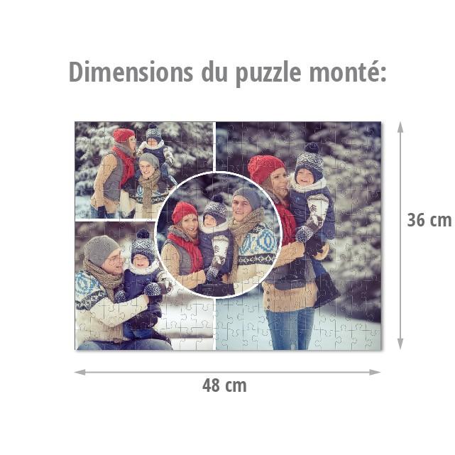 Dimensions du puzzle monté