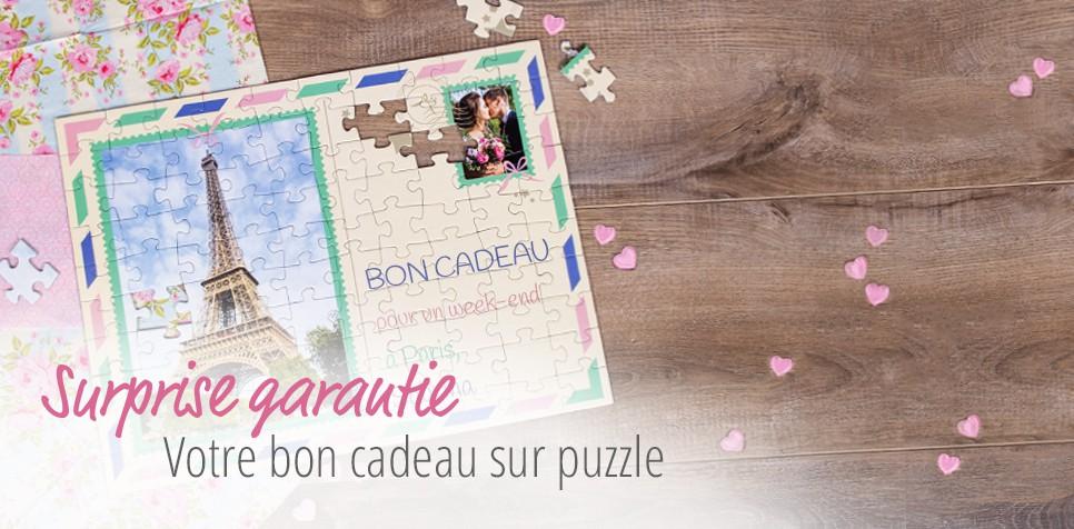 Bon Cadeau sur puzzle - vacances