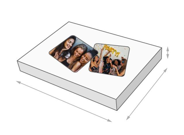 Dimensions de la boîte du puzzle - Jeu de mémoire photo