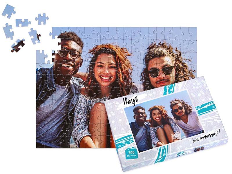 Boîte du puzzle photo 200 pièces amis