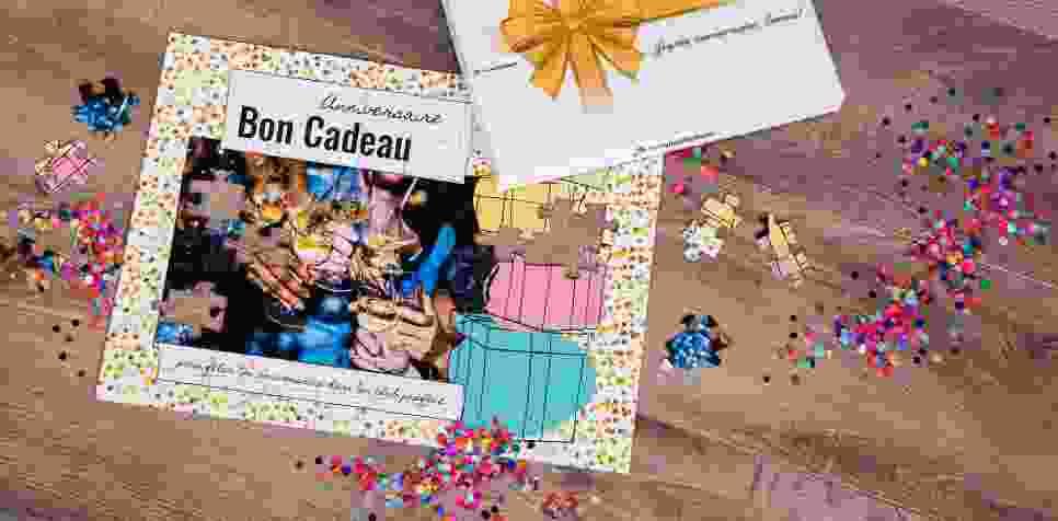 Bon Cadeau sur puzzle -  anniversaire