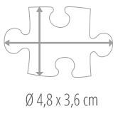 Dimensions des pièces du puzzle - Puzzle photo 100 pièces
