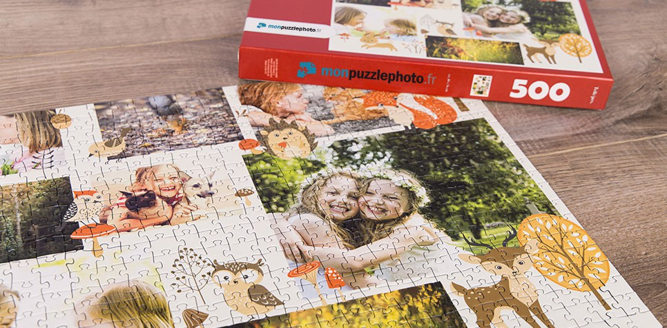 Teaser: Puzzle Photo pêle-mêle avec Illustration