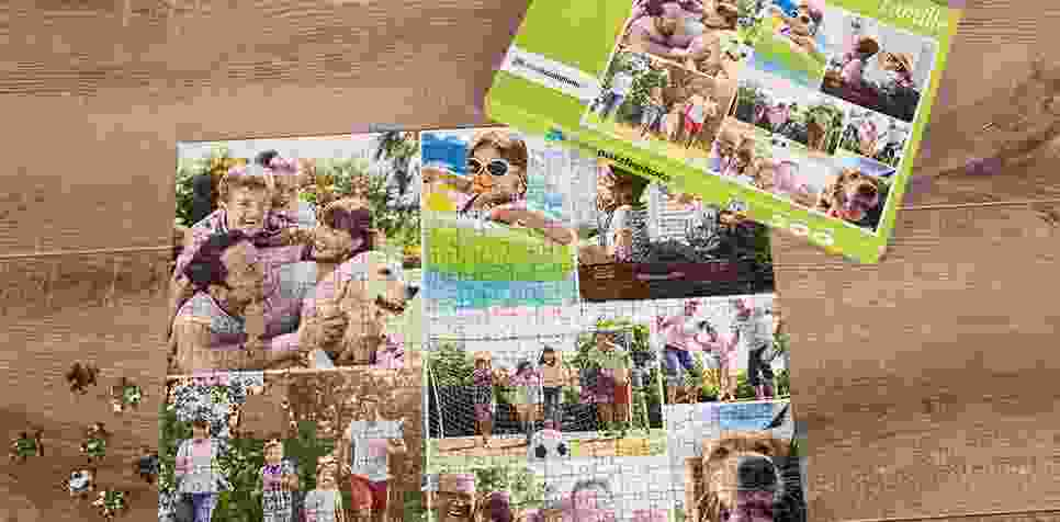 Teaser: Puzzle Photo pêle-mêle avec Grille simple