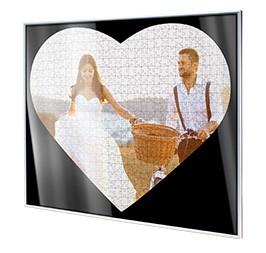 Cadre pour puzzle photo cœur; Vue détaillée coin