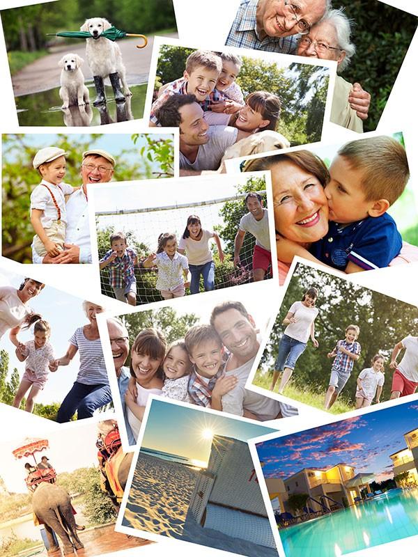 Puzzle Photo pêle-mêle avec Chevauchement 12 Photos