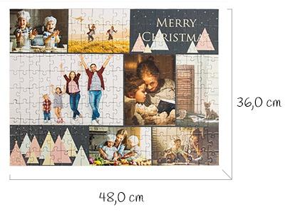 Dimensions puzzle monté