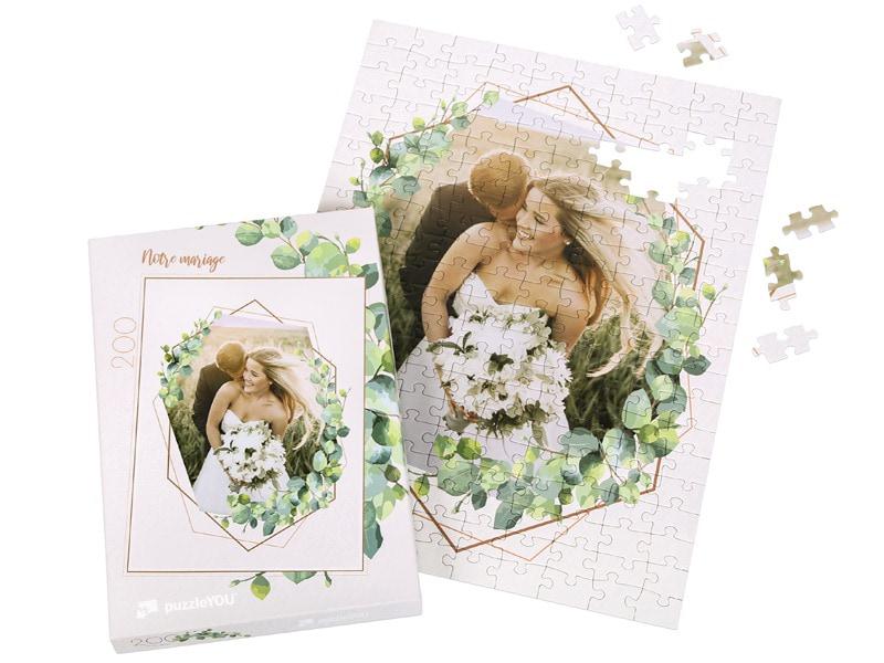 Boîte du puzzle photo 200 pièces mariage