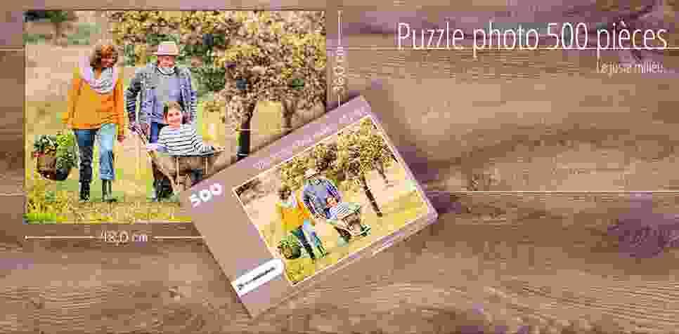Puzzle photo avec 500 pièces