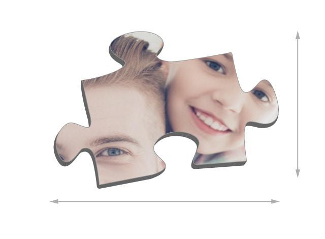 Dimensions des pièces du puzzle - Puzzle photo 200 pièces