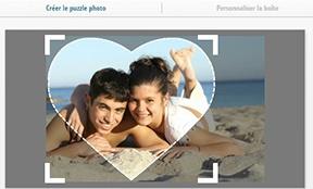 Créer puzzle photo 600 pièces, cœur