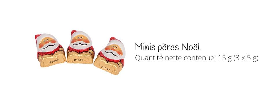Minis pères Noel de chocolat