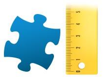 Echelle de comparaison pièce du puzzle - Puzzle photo 100 pièces