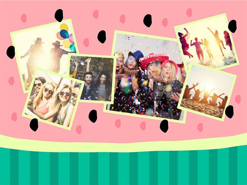 Puzzle Photo pêle-mêle avec Illustration 6 Photos