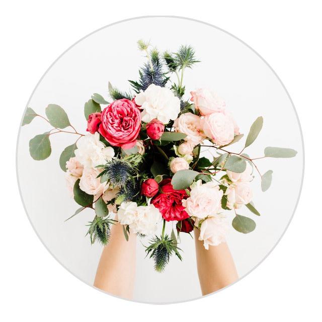 Au lieu d'un bouquet de fleurs