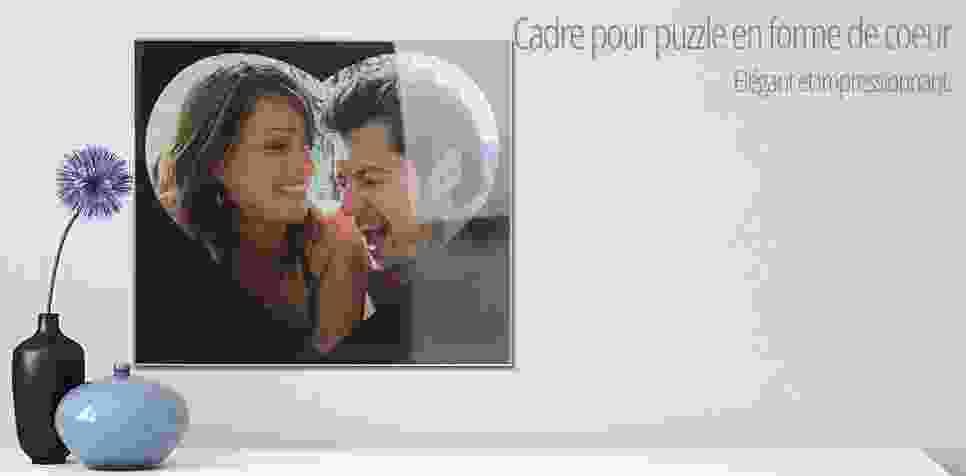 Cadre pour puzzle cœur 600 pièces