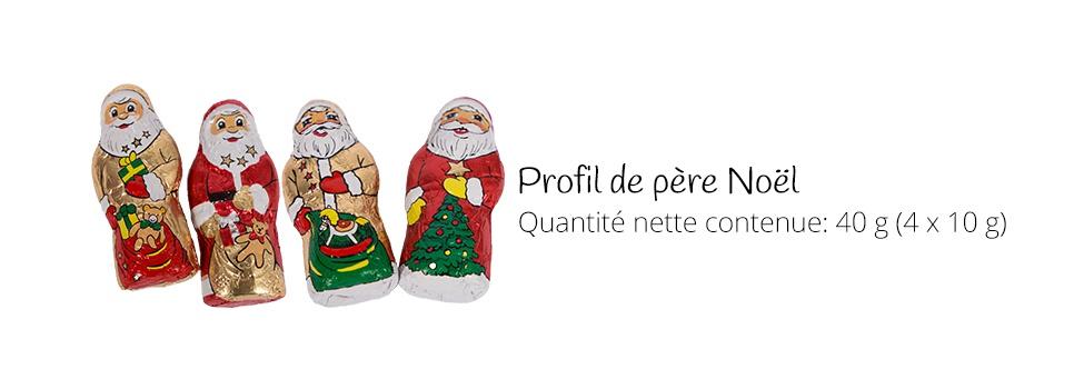 Pères Noel de chocolat