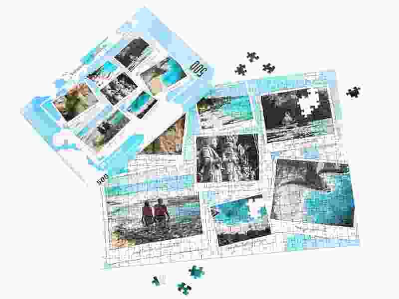 Boîte du puzzle photo 500 pièces vacances