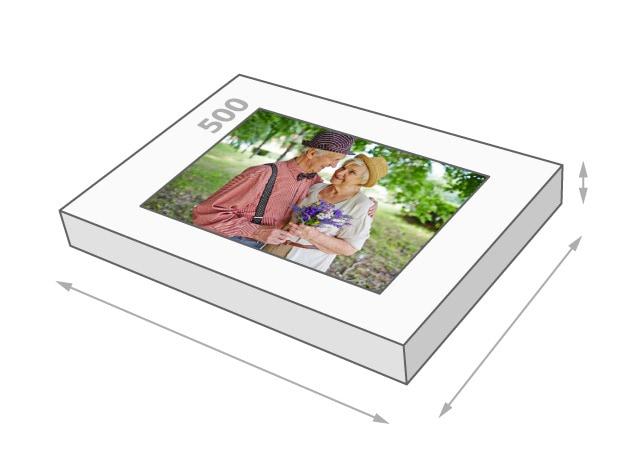 Dimensions de la boîte du puzzle - Puzzle photo 500 pièces