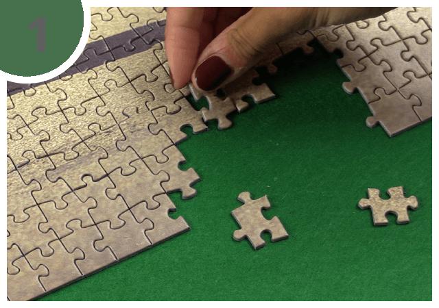 Instructions pour le tapis pour puzzle - étape 1