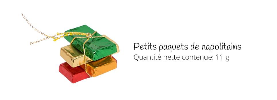 petits paquets de napolitains de chocolat