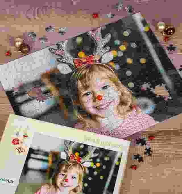 Puzzle photo pour le cadeau de Noël
