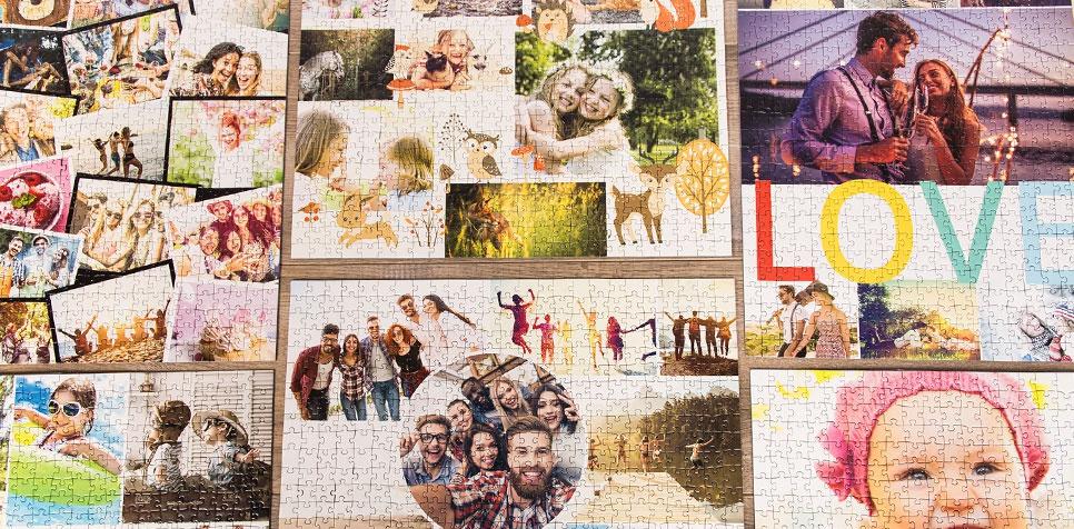 Teaser: Puzzle Photo pêle-mêle - Aperçu des modèles