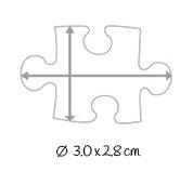 Dimensions pièces du puzzle