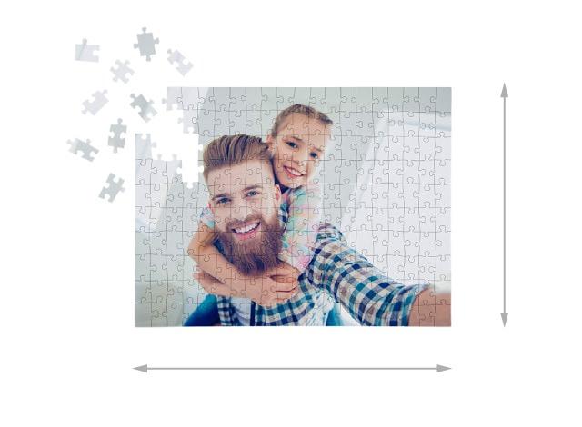Jeu de puzzle photo 200 pièces taille