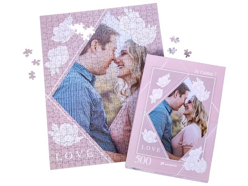 Boîte du puzzle photo 500 pièces couple